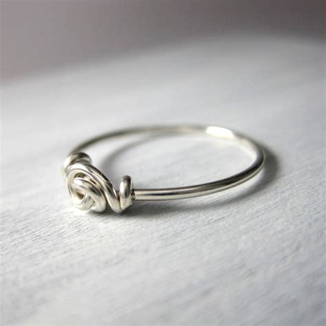 promise ring knot ring wire wrapped sterling by