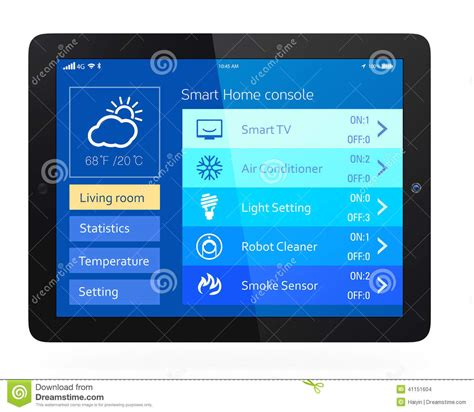 smart home console stock photo image
