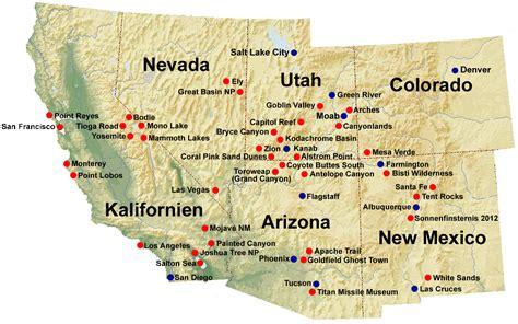 Karte 2012   Dia Faszination Natur USA