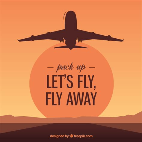 Flight From Fly By let s fly fly away vector free