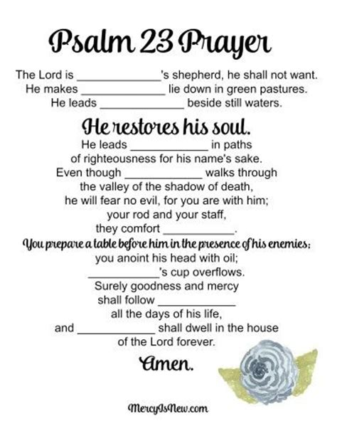 printable version of psalm 23 17 best images about psalm 23 vacation bible school on
