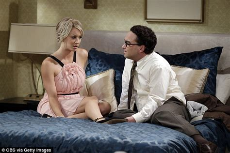 husband and wife bedroom scene kaley cuoco gets cosy with ex johnny galecki at the people
