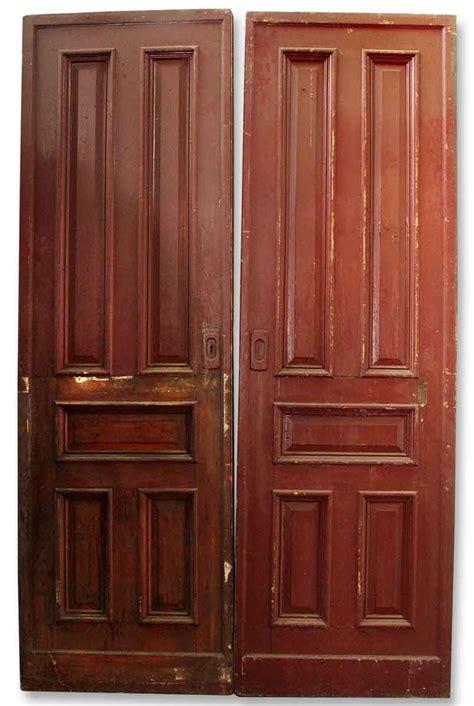 Wooden Pocket Doors Pair Of Wooden Pocket Doors Olde Things