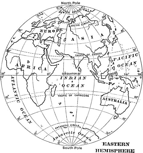 outline map of the eastern hemisphere