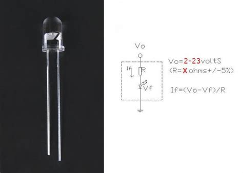 resistor for led on 5v 5v flash light 3mm 5mm led diode resistor with flashic in it 90285203