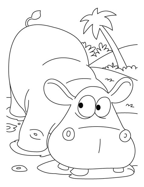 hippopotamus coloring pages for kids az coloring pages