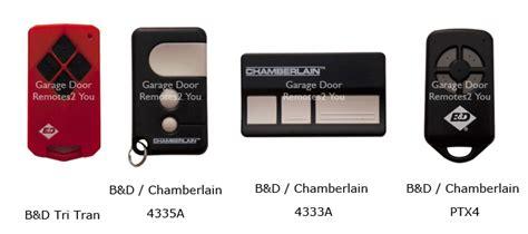 B D Remote Garage Door Opener by B D Garage Door Remote Controls