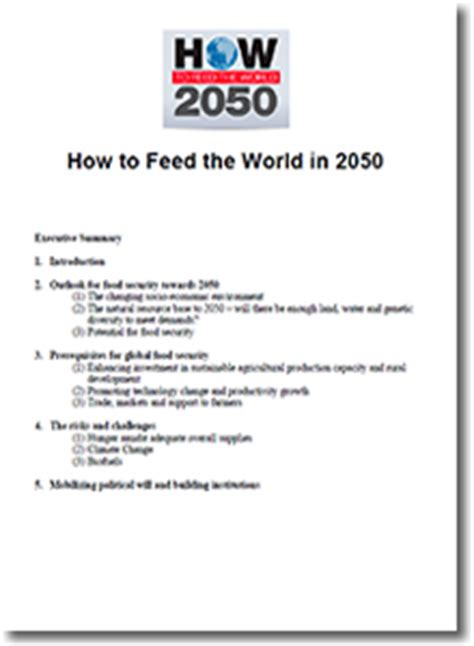 In 2050 Essay by How To Feed The World In 2050 Supply Chain 24 7 Paper