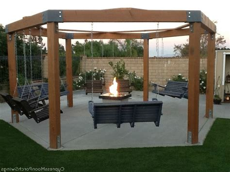 fire pit ideas with swings tutorial build an amazing diy pergola and firepit with