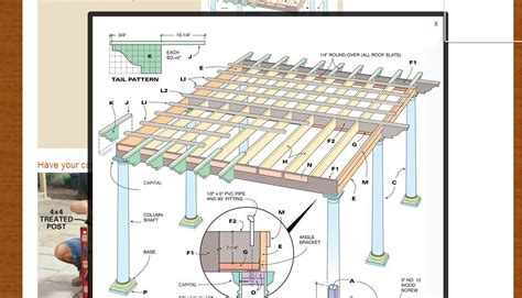 free pergola building plans build an amazing shed free plans from fh wny handyman