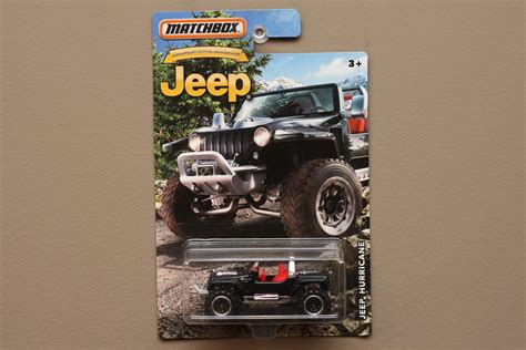 Matchbox Jeep Hurricane matchbox 2016 jeep anniversary edition jeep hurricane
