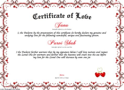 funny marriage certificate templates