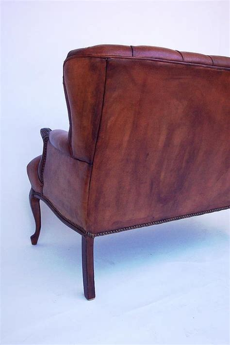 leather loveseats for sale pair of matching tufted leather loveseats for sale