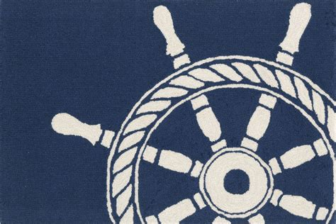 shipping a rug trans frontporch 1456 33 ship wheel navy area rug payless rugs frontporch collection by