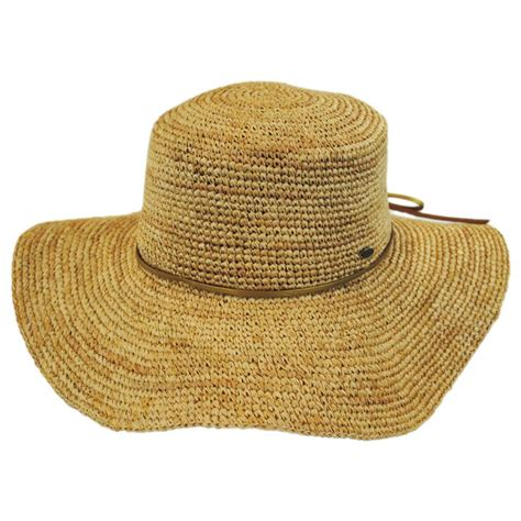Kaos One Straw Hat scala organic raffia straw floppy planter hat sun hats