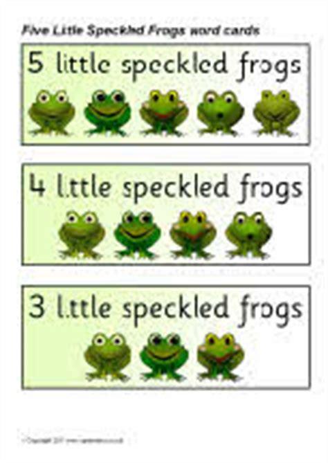 speckled frogs word cards sb sparklebox
