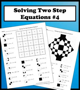 the two step the color of courage solving two step equations color worksheet practice 4 by