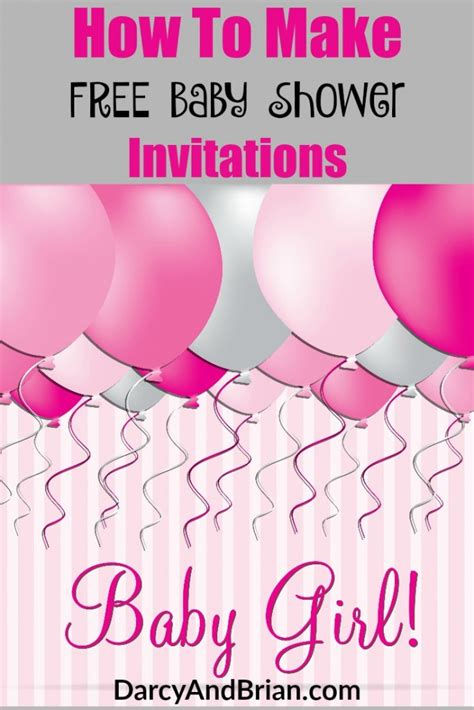 free baby shower invitations for how to create free baby shower invitations