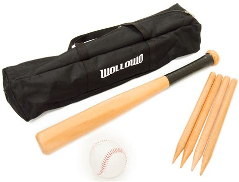 outdoor l posts base wollowo outdoor wooden rounders set bat base