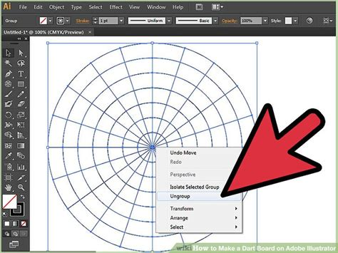 adobe illustrator change pattern size how to make a dart board on adobe illustrator 14 steps