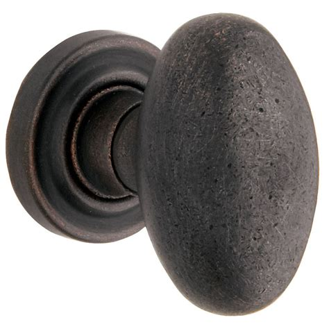 Shop Baldwin Distressed Oil Rubbed Bronze Egg Push Button Baldwin Interior Door Knobs