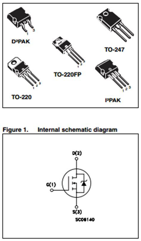 transistor mosfet w20nm60 w20nm60 datasheet w20nm60 pdf pinouts circuit stmicroelectronics