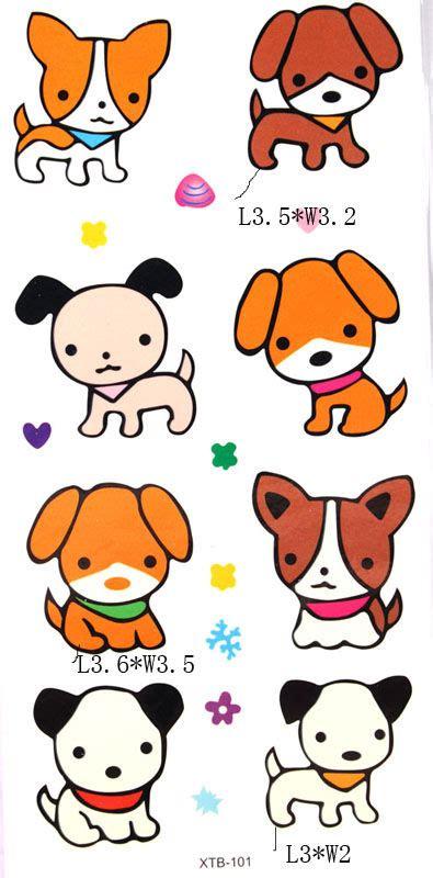 cartoon dog tattoo designs yimei waterproof temporary tattoos color animation