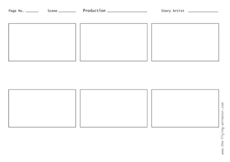 free storyboard templates for planning a movie art