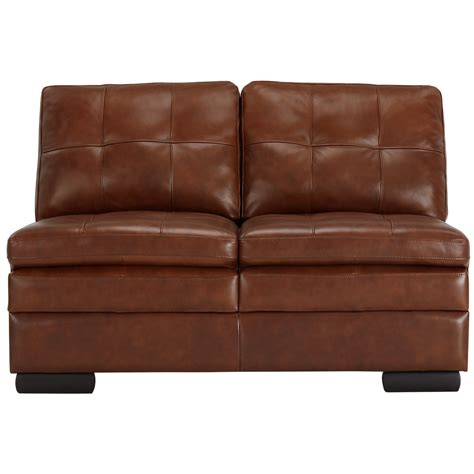 small leather sectional with chaise city furniture trevor medium brown leather small right