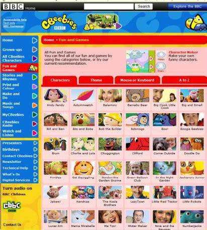 figure websites figure 3 cbeebies websites and screenshot