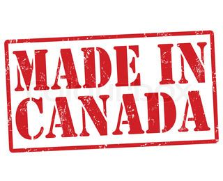 Grunge Made In Canada White - made in canada grunge rubber st on white vector