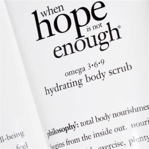 Philosophy When Is Not Enough Review by Philosophy When Is Not Enough Hydrating Scrub Review
