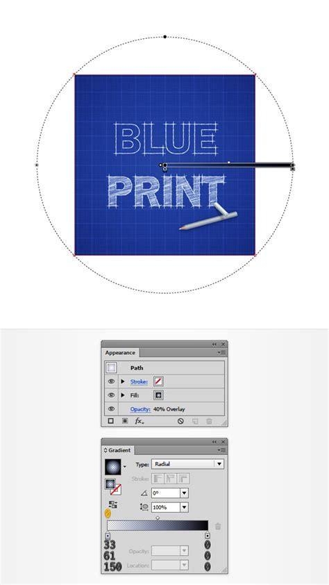 create a blueprint how to create a blueprint text effect in adobe illustrator