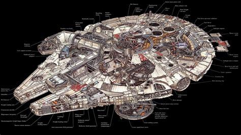 slave 1 cross section star wars millennium falcon schematic science fiction