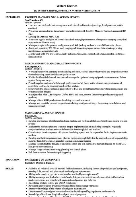 sports management resume exles sports manager resume sles velvet
