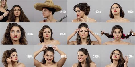 hairstyles through the years changing beauty hairstyles and makeup over 100 years in