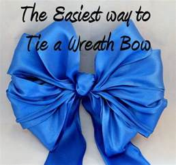 arts and design how to make tie a wired ribbon wreath bow