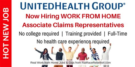 immediate full time help no experience required jobs now exciting new work from home opportunity with unitedhealth