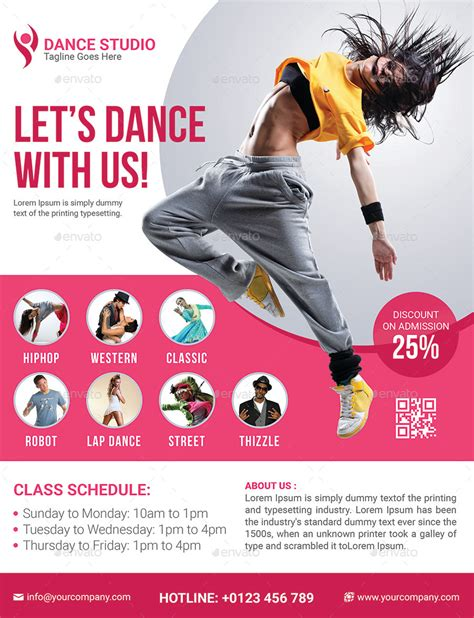 templates for dance flyers dance studio flyer by elite designer graphicriver