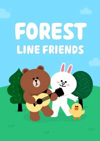 theme line forest friend forest friends