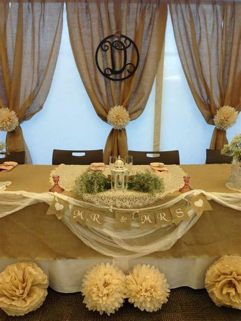 Rustic Wedding Party Head Table   Checkley Wedding