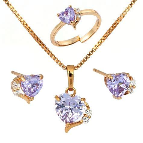 jewelry for children aliexpress buy 18k gold plated lavendar purple