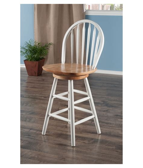 Winsome 24 Bar Stools by Winsome Wood Wagner 24 Quot Arrow Back Swivel Seat Bar