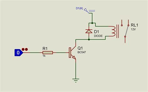 how does bc547 transistor work to drive a 12v relay by atmega32 using bc547