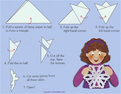 Steps On How To Make A Paper Snowflake - snowflakes