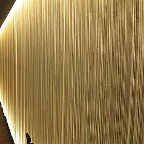 Beige string curtain