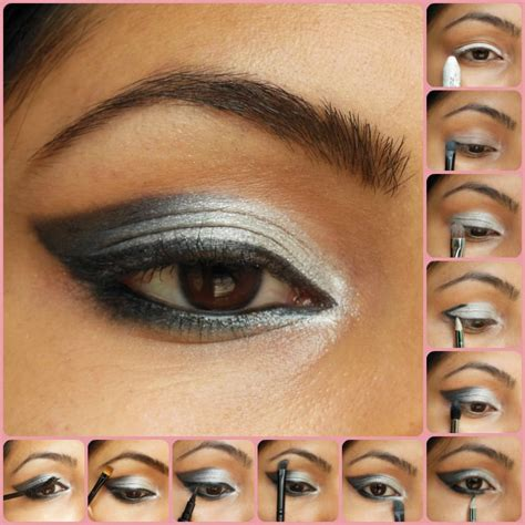 tutorial makeup smokey eyes eye makeup tutorial silver smokey eyes beauty fashion