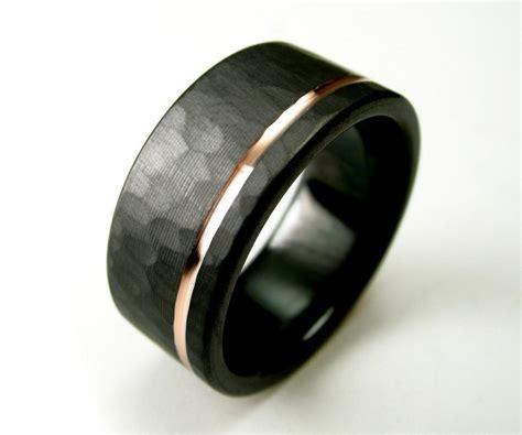 Wedding Ring Black Zirconium by Hammered S Wedding Band Comfort Fit Interior Black