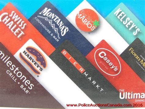 The Ultimate Dining Card Gift Card Balance - police auctions canada the ultimate dining restaurant gift card 125 00 124184h
