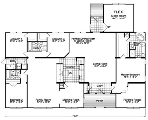 the gotham flex scyd76f8 home floor plan manufactured